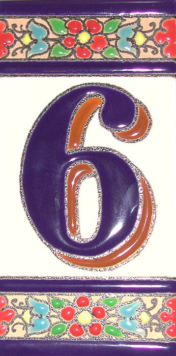 Ceramic house numbers at for Spanish style house numbers