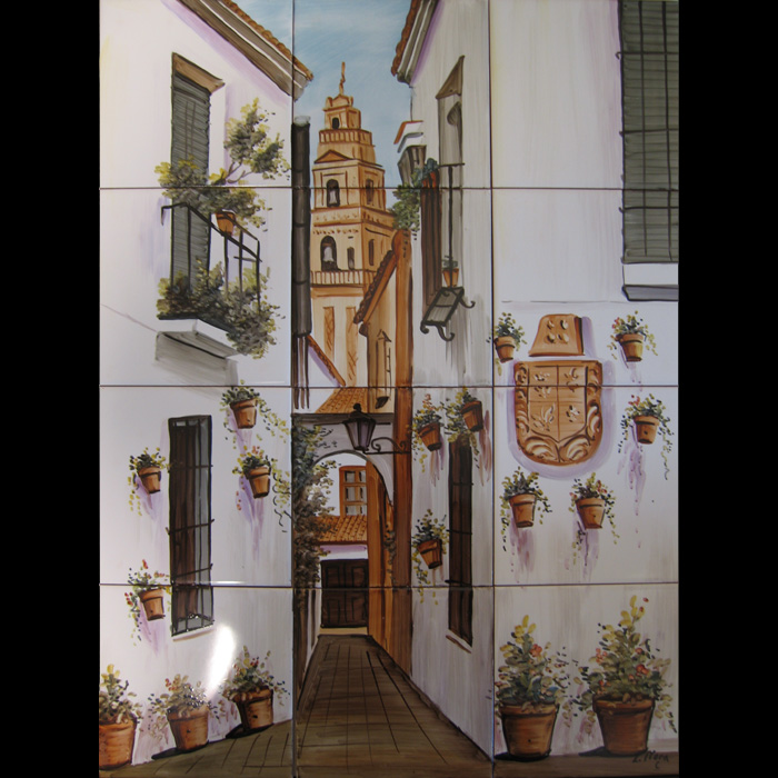 Tile murals at for Clay tile mural